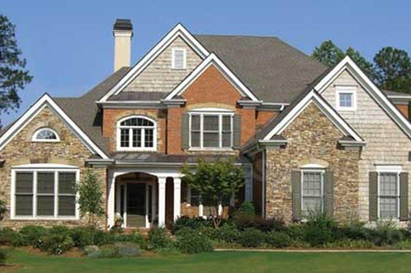 Architectural House Design - European Exterior - Front Elevation Plan #54-167