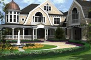 Traditional Style House Plan - 4 Beds 6 Baths 7900 Sq/Ft Plan #132-216 Exterior - Front Elevation