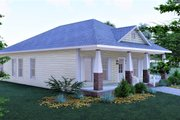 Craftsman Style House Plan - 3 Beds 2 Baths 1587 Sq/Ft Plan #44-234 Exterior - Other Elevation