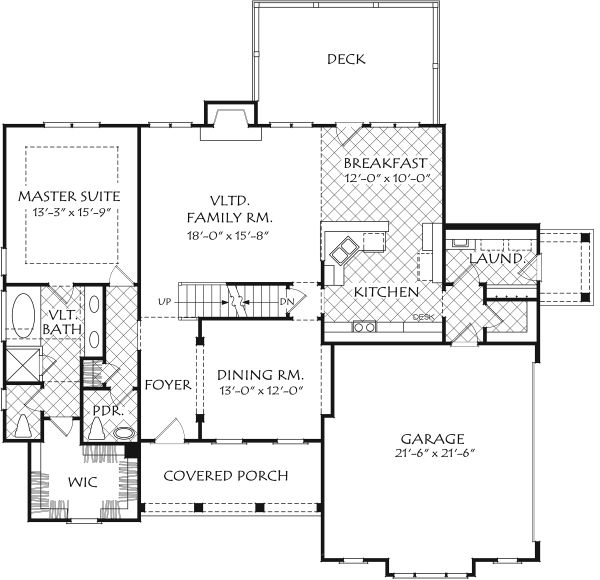 Dream House Plan - Farmhouse Floor Plan - Main Floor Plan #927-1004