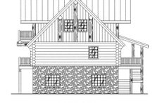 Log Exterior - Rear Elevation Plan #117-127