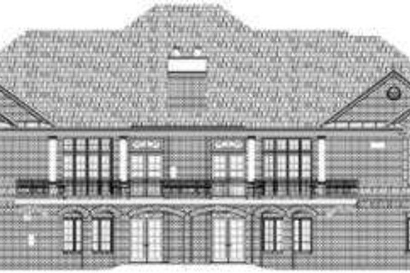 European Exterior - Rear Elevation Plan #119-206 - Houseplans.com