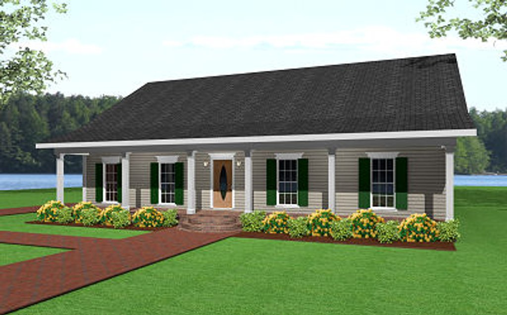 Ranch Style House Plan - 3 Beds 2 Baths 1500 Sq/Ft Plan #44-134 on plans for cape cod house, plans for lake house, plans for prefab house, plans for split level house,
