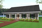 Ranch Style House Plan - 3 Beds 2 Baths 1500 Sq/Ft Plan #44-134 Exterior - Front Elevation