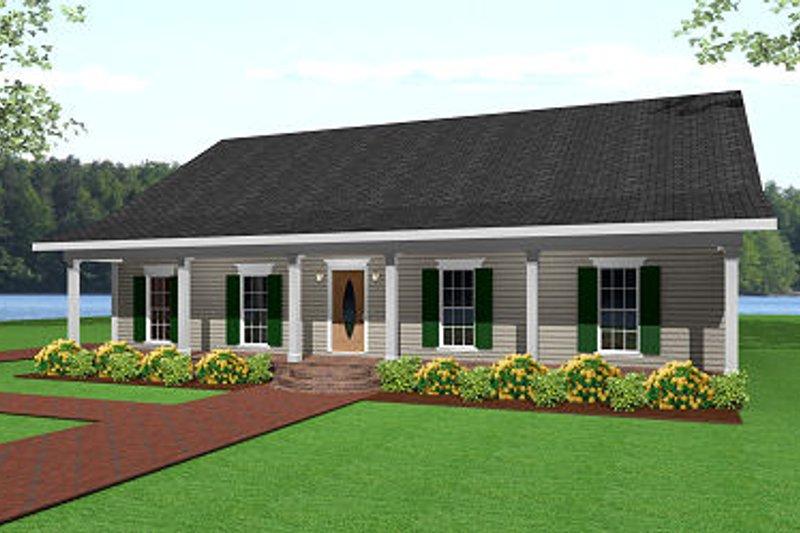 Ranch Exterior - Front Elevation Plan #44-134 - Houseplans.com