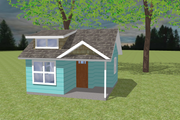 Bungalow Style House Plan - 1 Beds 1 Baths 200 Sq/Ft Plan #423-66 Exterior - Front Elevation