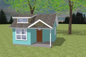 Bungalow Exterior - Front Elevation Plan #423-66