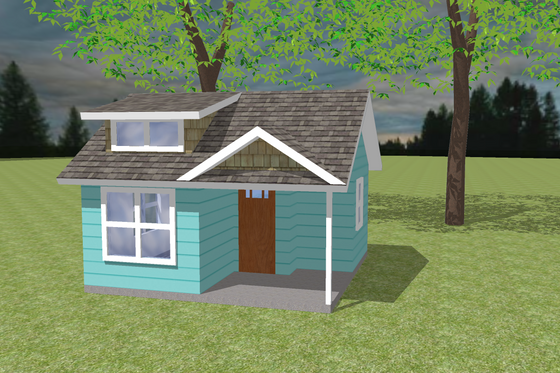 Bungalow Exterior - Front Elevation Plan #423-66
