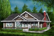 Country Style House Plan - 2 Beds 1 Baths 925 Sq/Ft Plan #18-1047 Exterior - Front Elevation