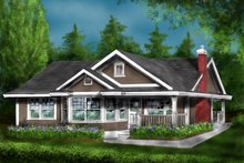 Home Plan - Country Exterior - Front Elevation Plan #18-1047