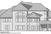 Traditional Style House Plan - 3 Beds 3.5 Baths 2911 Sq/Ft Plan #70-694 Exterior - Rear Elevation