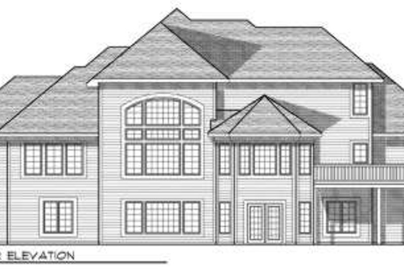 Traditional Exterior - Rear Elevation Plan #70-694 - Houseplans.com
