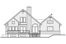 House Plan Design - Rear View - 1900 square foot Cottage