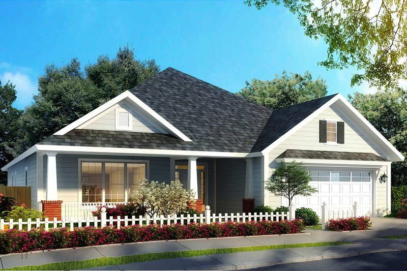 Cottage Style House Plan - 4 Beds 3.5 Baths 2107 Sq/Ft Plan #513-2174 Exterior - Front Elevation