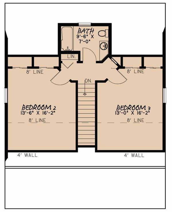 Country Floor Plan - Upper Floor Plan Plan #923-46