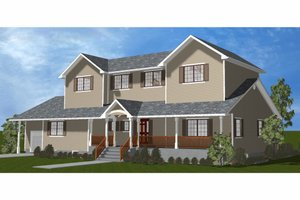 Dream House Plan - Farmhouse Exterior - Front Elevation Plan #3-344