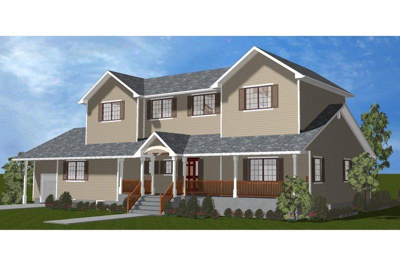 Dream House Plan - Farmhouse Exterior - Front Elevation Plan #3-344