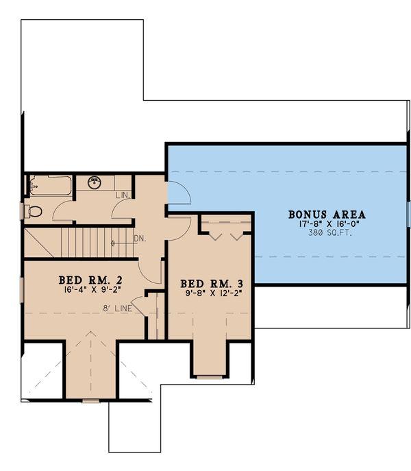House Blueprint - Traditional Floor Plan - Upper Floor Plan #923-191