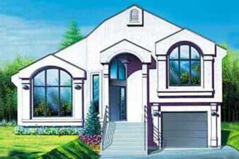 European Style House Plan - 3 Beds 2 Baths 1673 Sq/Ft Plan #25-334 Exterior - Front Elevation