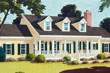 Home Plan - Southern Exterior - Front Elevation Plan #3-160