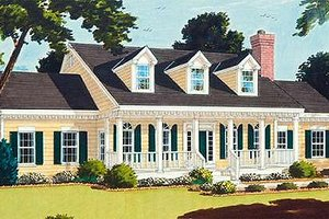Dream House Plan - Southern Exterior - Front Elevation Plan #3-160