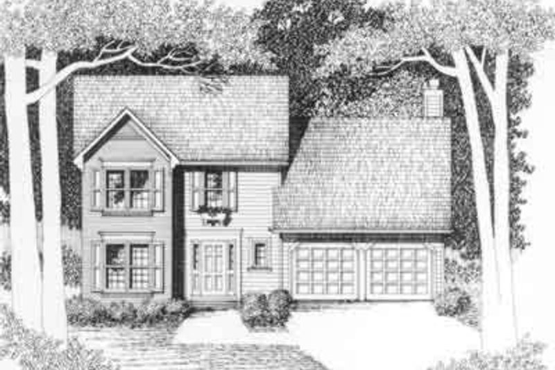 Traditional Exterior - Front Elevation Plan #129-150 - Houseplans.com
