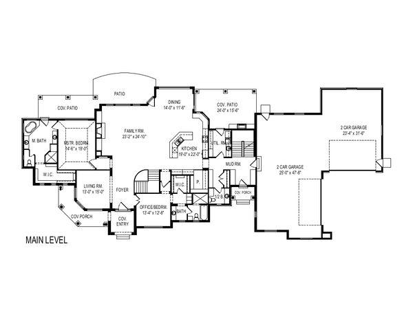 European Floor Plan - Main Floor Plan Plan #920-113