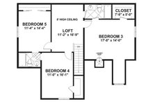 Craftsman Floor Plan - Upper Floor Plan Plan #56-720