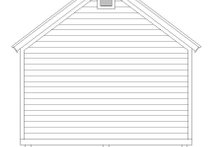 House Plan Design - Country Exterior - Rear Elevation Plan #932-301