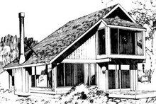 Home Plan - Modern Exterior - Front Elevation Plan #320-102