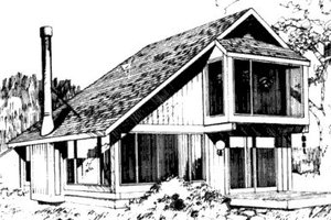 Modern Exterior - Front Elevation Plan #320-102