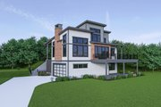 Contemporary Style House Plan - 3 Beds 2.5 Baths 2586 Sq/Ft Plan #1070-45 Exterior - Other Elevation