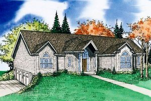 House Plan Design - Country Exterior - Front Elevation Plan #405-180