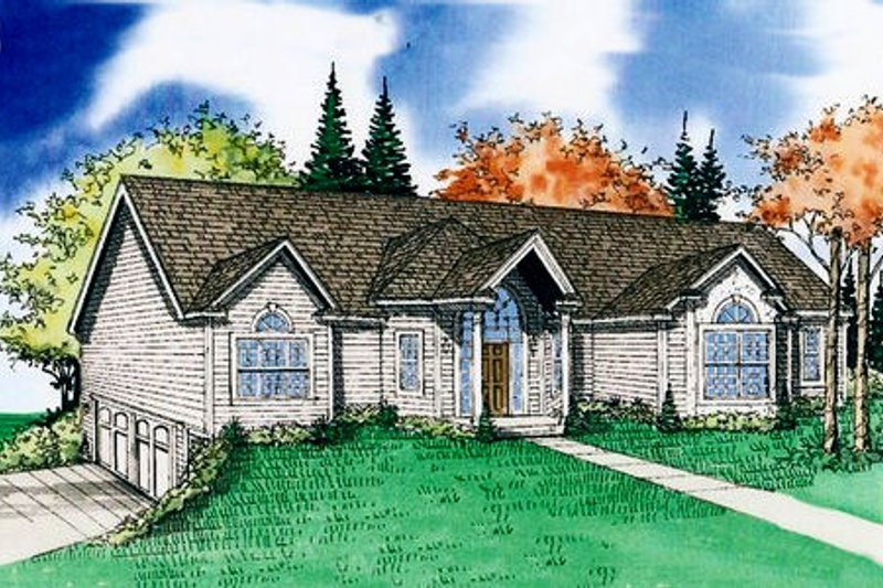 Country Exterior - Front Elevation Plan #405-180