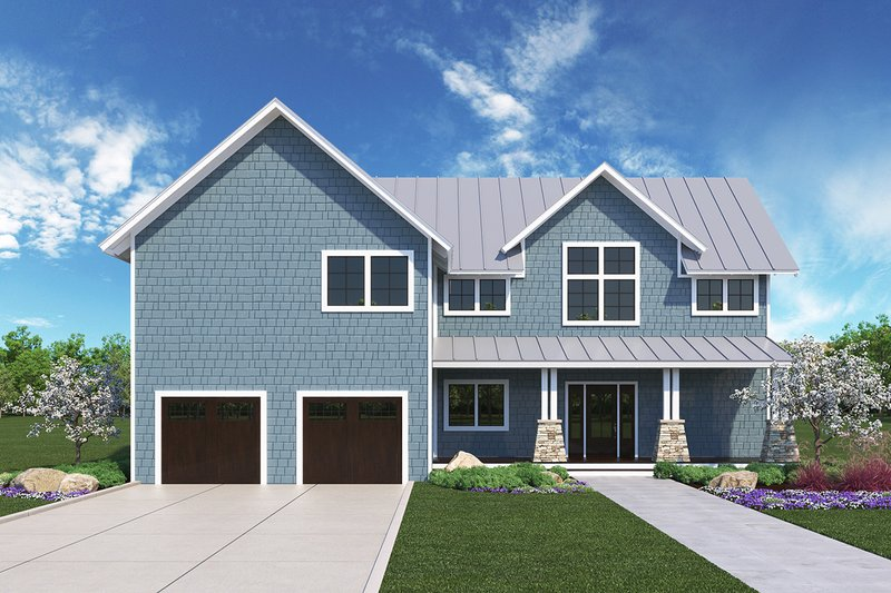Farmhouse Exterior - Front Elevation Plan #1068-3