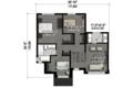 Contemporary Style House Plan - 3 Beds 1 Baths 1896 Sq/Ft Plan #25-4433 Floor Plan - Upper Floor Plan