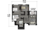 Contemporary Floor Plan - Upper Floor Plan Plan #25-4433