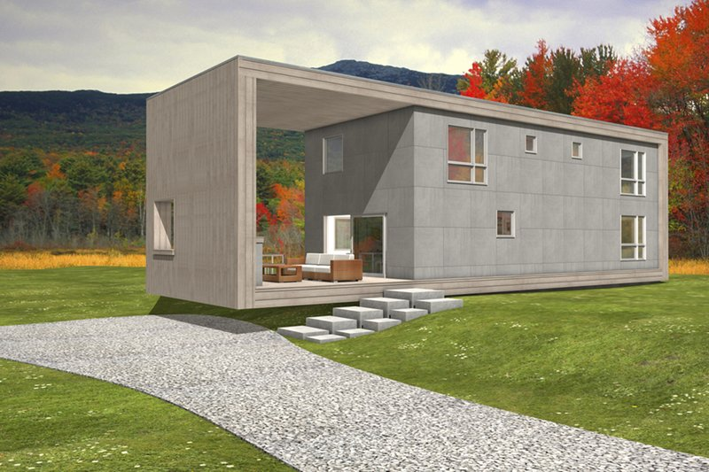 Dream House Plan - Modern, Front elevation