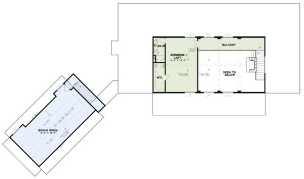 Craftsman Floor Plan - Upper Floor Plan Plan #17-3419