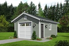 Country Exterior - Front Elevation Plan #932-155