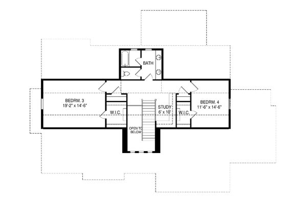 Ranch Floor Plan - Upper Floor Plan Plan #920-97