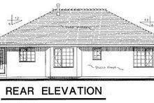 Ranch Exterior - Rear Elevation Plan #18-191