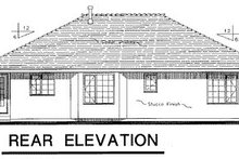 House Blueprint - Ranch Exterior - Rear Elevation Plan #18-191