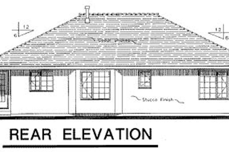Ranch Exterior - Rear Elevation Plan #18-191 - Houseplans.com