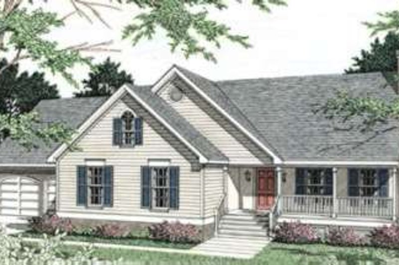 Architectural House Design - Traditional Exterior - Front Elevation Plan #406-162