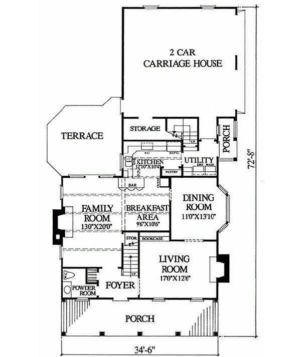 Colonial Floor Plan - Main Floor Plan #137-241