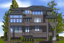 Contemporary Exterior - Rear Elevation Plan #48-254
