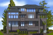 Home Plan - Contemporary Exterior - Rear Elevation Plan #48-254