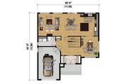 Contemporary Style House Plan - 4 Beds 2 Baths 2144 Sq/Ft Plan #25-4348 Floor Plan - Main Floor Plan