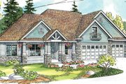 Craftsman Style House Plan - 3 Beds 3.5 Baths 3439 Sq/Ft Plan #124-673 Exterior - Front Elevation